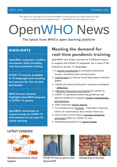 OpenWHO Newsletter April 2020