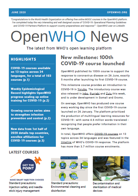 OpenWHO Newsletter June 2020