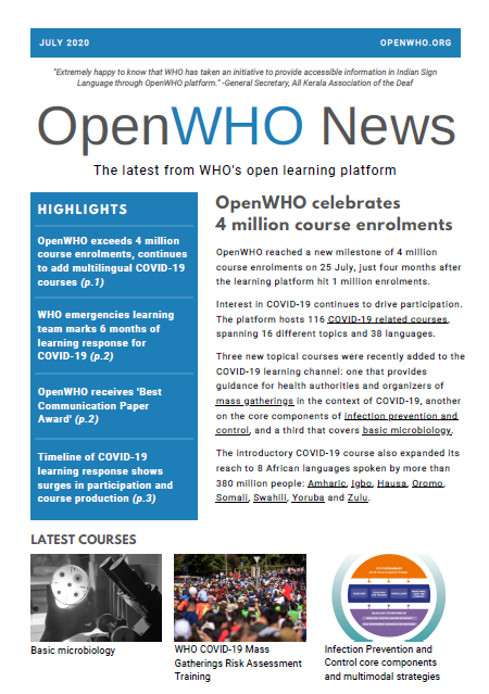 OpenWHO Newsletter July 2020