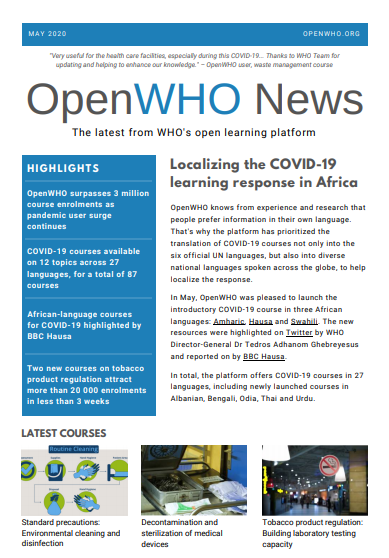 OpenWHO Newsletter May 2020